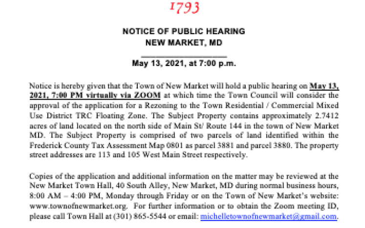 picture of public hearing notice